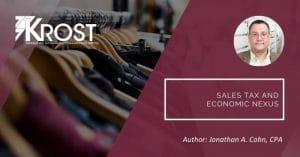 Sales Tax and Economic Nexus   Blog