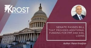 Senate Passes Bill That Provides Additional Funding for PPP and EIDL Loans