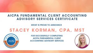 Stacey Fundamental Client Accounting Advisory Services Certificate