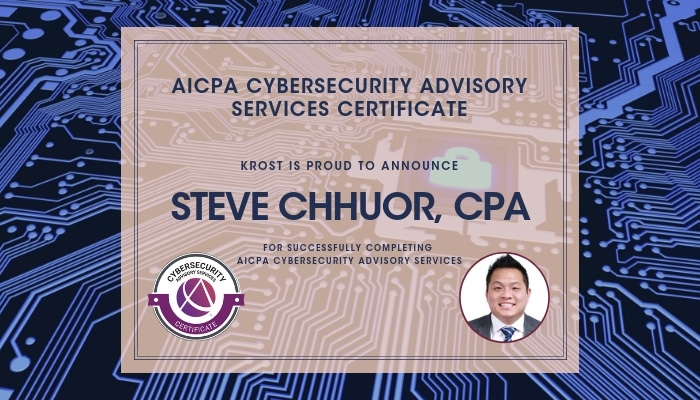 Steve Chhuor Certified in Cybersecurity Advisory Services