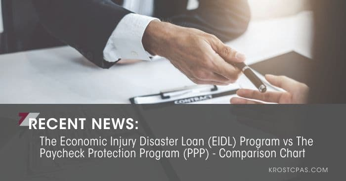[Updated] The Economic Injury Disaster Loan (EIDL) Program vs The Paycheck Protection Program (PPP) – Comparison Chart