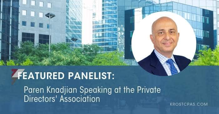 Paren Knadjian Speaking at the Private Directors' Association