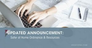 [Updated Announcement] Safer at Home Ordinance & Resources