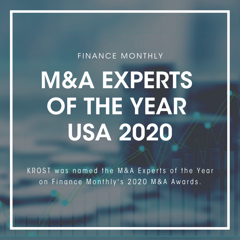 Finance Monthly M&A Experts of the Year 2020
