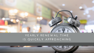Yearly Renewal Time - Restaurant Consultant