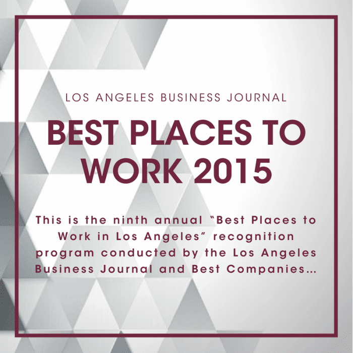 LABJ Best Places to Work 2015