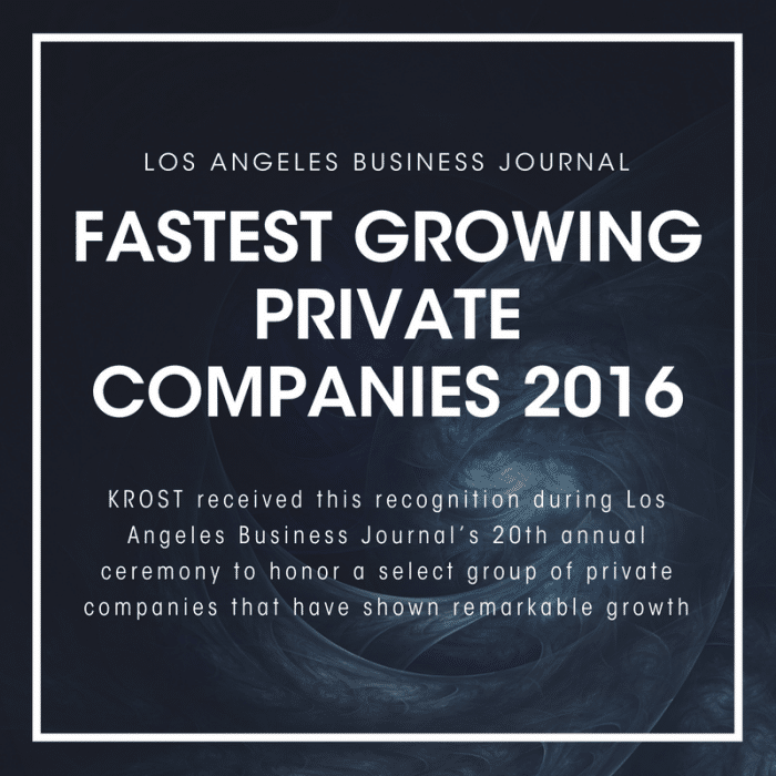 LABJ Fastest Growing Private Companies 2016